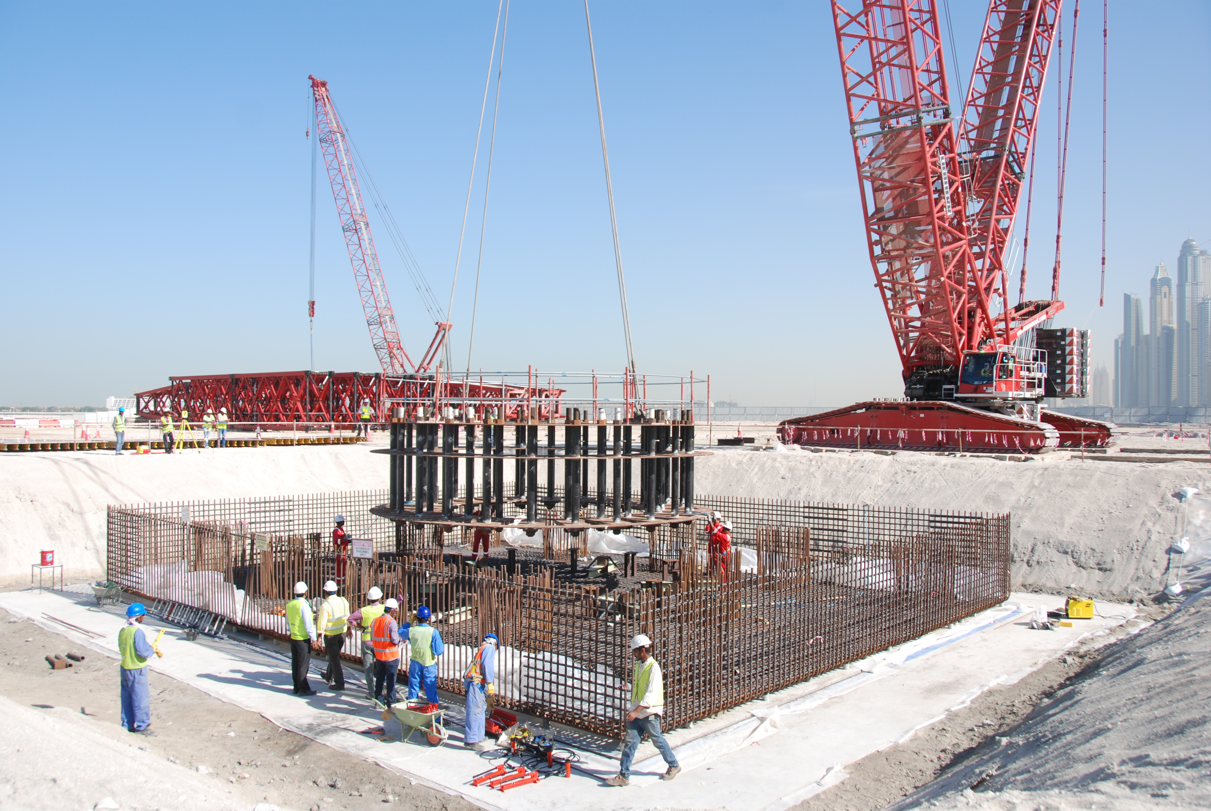 Pile Cap Foundation of Dubai I – Shafa Al Nahda